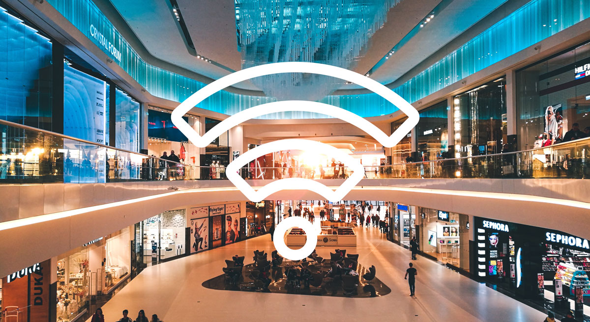 WiFi-tracking in shopping mall